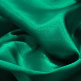 Ткань атлас стрейч тонкий изумруд (метр )