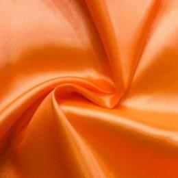 Ткань атлас стрейч тонкий оранж (метр )