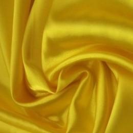 Ткань атлас стрейч тонкий желтый (метр )