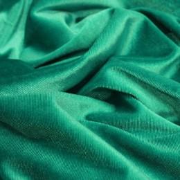 Ткань бархат стрейч зеленая бирюза (метр )