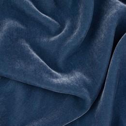 Ткань бархат стрейч серо-голубой (метр )
