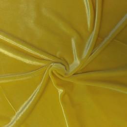 Ткань бархат стрейч желтый (метр )