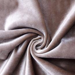 Ткань бархат стрейч капучино (метр )