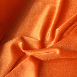 Ткань бархат стрейч оранж (метр )