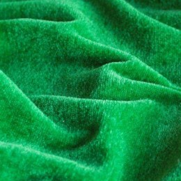 Ткань велюр стрейчевый трава (метр )