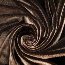Ткань велюр стрейчевый коричневый (метр )