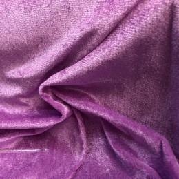 Ткань велюр стрейчевый сиреневый (метр )