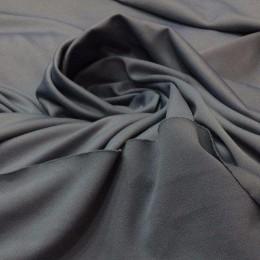 Ткань трикотаж дайвинг однотонный серый (метр )