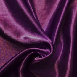 Ткань креп-сатин баклажан (метр )