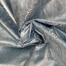 Ткань парча жаккард голубая (метр )