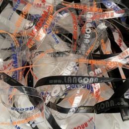 Лента силиконовая 10мм прозрачная с логотипом под заказ (метр )