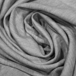 Ткань трикотаж французский светло серый меланж (метр )