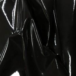 Ткань лак стрейч (латекс) черный (метр )