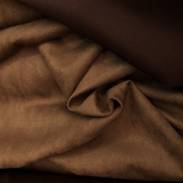 Ткань замша на дайвинге темный беж (метр )