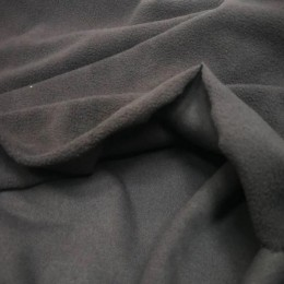 Ткань микрофлис темно серый (метр )
