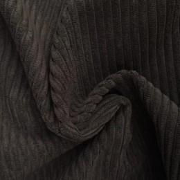 Ткань вельвет крупный серый (метр )