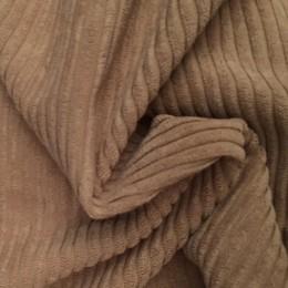 Ткань вельвет крупный светло бежевый (метр )