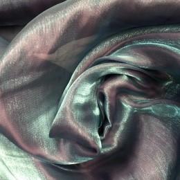 Ткань органза хамелеон сталь (метр )