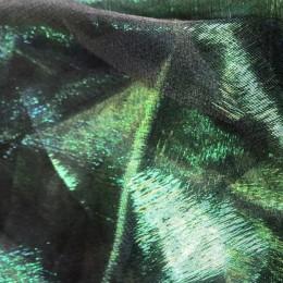 Ткань органза хамелеон зеленая сталь (метр )