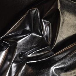 Ткань плащевка лаке металлик черный (метр )