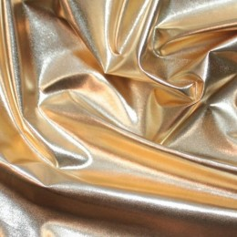 Ткань плащевка лаке металлик светлое золото (метр )