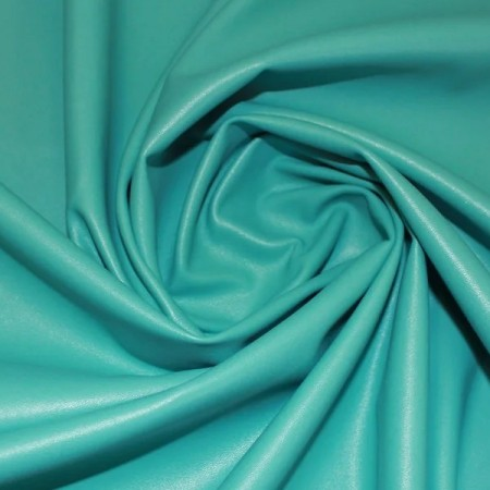 Ткань кожа стрейч голубая бирюза  (метр )