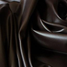 Ткань кожа стрейч коричневая (метр )