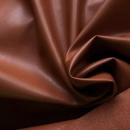 Ткань кожа на замше терракот (метр )