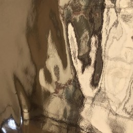 Ткань кожа зеркало золото (метр )