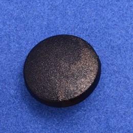 Кнопка пластиковая 17 мм китай черная (1000 штук)