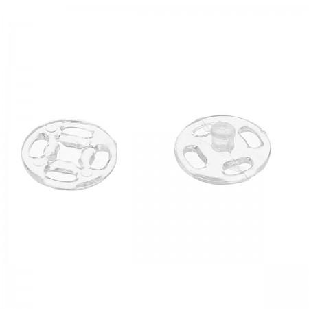 Кнопка пластиковая пришивная 15 мм прозрачная (1000 штук)