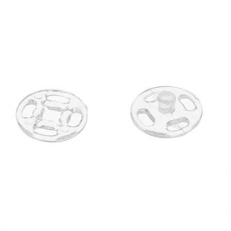 Кнопка пластиковая пришивная 25 мм прозрачная (1000 штук)