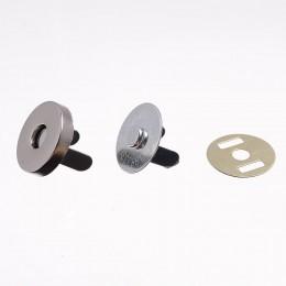 Кнопка магнит 15мм Китай никель (200 штук)