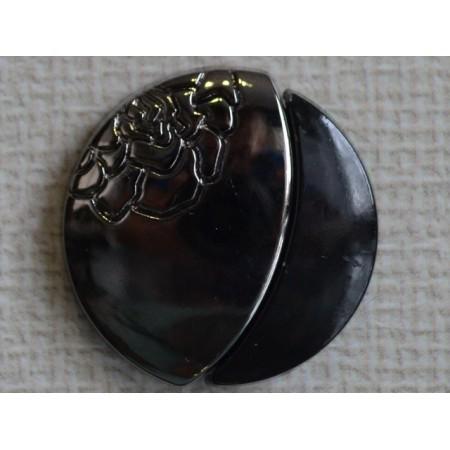 Кнопка декоративная 25 мм №22 блек никель (1000 штук)