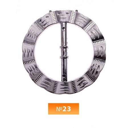Пряжка пластиовая №23 блек никель 3.5 см (100 штук)