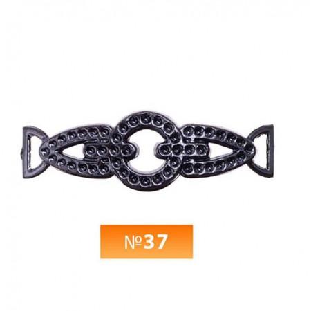 Пряжка пластиовая №37 блек никель (100 штук)
