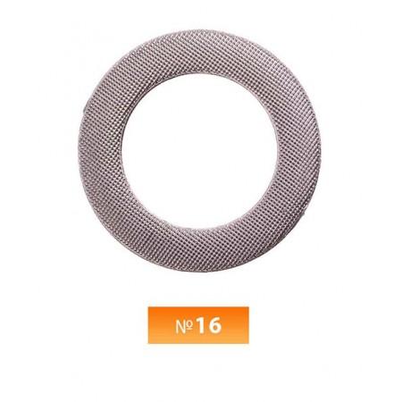 Кольцо пластиковое №16 блек никель 3 см (250 штук)