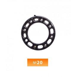 Кольцо пластиковое №20 блек никель 2 см (250 штук)