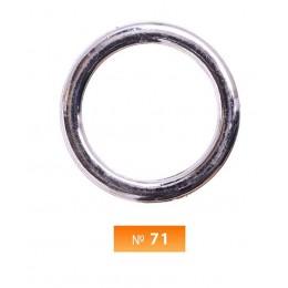Кольцо пластиковое №70 никель 4 см (250 штук)