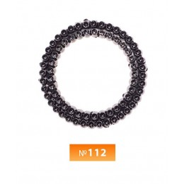 Кольцо пластиковое №112 блек никель 3.5 см (250 штук)
