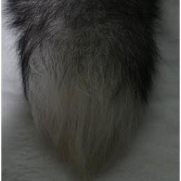 Хвост из натурального меха чернобурка (Штука)