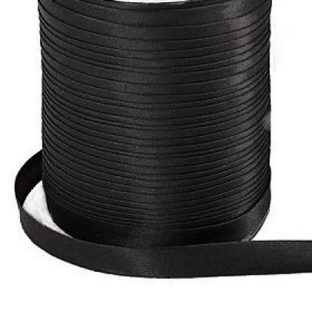 Бейка косая (атласная) 15мм черная (120 ярдов)