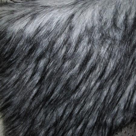 Искусственный мех Енот серый (метр )