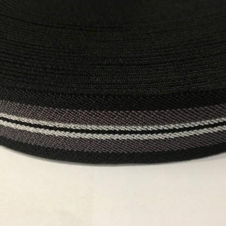 Резинка 35мм черный серый белый (25 метров)