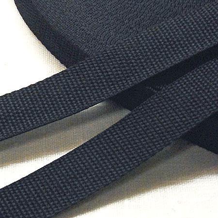 Тесьма-лента ременная 20мм черная (100 метров)