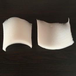 Плечевые накладки, подплечники поролоновые 25мм К плотные (25х125х120мм) (200 пар)