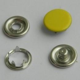 Кнопка трикотажная беби закрытая 9,5 мм турция желтый 110 (1440 штук)