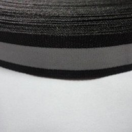 Тесьма светоотражающая 2см черная (50 метров)