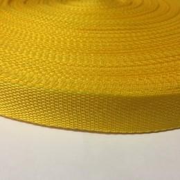Тесьма-лента ременная 25мм желтый  (100 метров)