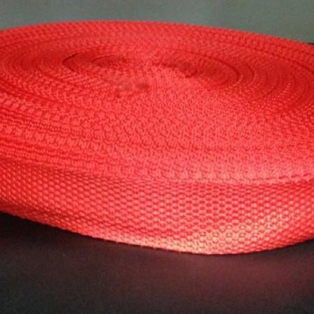 Тесьма-лента ременная 25мм красный (100 метров)